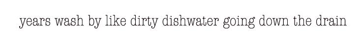 dishwater